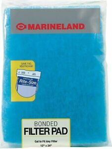 Marineland Bonded Filter Pad Rite Size 12X24 Inch Cut To Fit Any Aquarium Filter