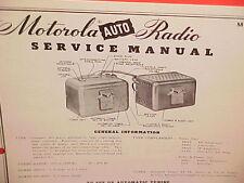 1950 MOTOROLA AUTO CAR AM RADIO FACTORY SERVICE SHOP REPAIR MANUAL MODEL 701