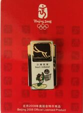 OFFICIAL BEIJING OLYMPIC MASCOT BEACH VOLLEYBALL PICTOGRAM PIN