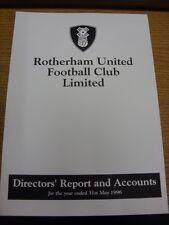31/05/1996 Rotherham United Football Club: directores informe y cuentas para el