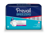 "PREVAIL BREEZERS MEDIUM CASE OF 96 BRIEFS 32-44"" INCH WAIST ADULT DIAPERS NIB"