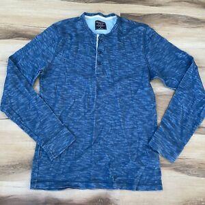 Abercrombie & Fitch Mens Medium Heathered Blue Long Sleeve Shirt