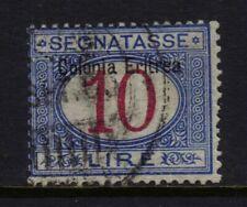 ERITREA Italian Colonies J11 Used, Signed Senf, 1903 10-lire Postage Due CV $875