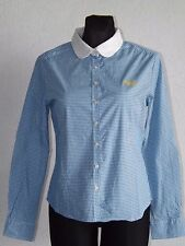 Superdry womens cotton blend long sleeve check shirt size M