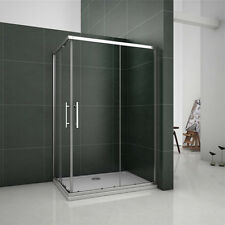1100x900mm Sliding Shower Enclosure Double Door Corner Entry Screen Walkin Bath