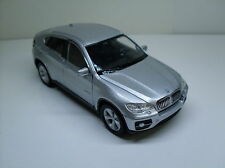 BMW X6 plata, Welly Auto Modelo Aprox. 1:35-1:38, Nuevo, EMB.ORIG