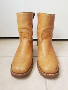 Frye Campus Vintage 90's Mid Calf Size 9.5 Men Boots Tan Brown Shoes