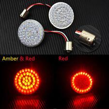 2'' 1157 Bullet Turn Signal Red/Amber LED Light For Harley Softail Sportster