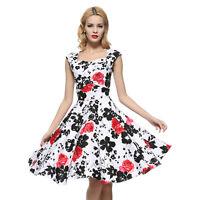 Maggie Tang 50s VTG Hepburn Rockabilly Bridesmaid Business Swing Dress R-567