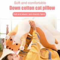 Long Cute Cat Doll Plush Toy Soft Stuffed Sleeping Kitten Pillow 50cm Comfort