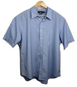 Vintage Ralph Lauren Short Sleeve Plaid Button Up Shirt Mens Size 2XL