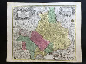 065 Antique Original 1760 map of Ukraine Amplissima Ucraniae Regio T.C. Lotter