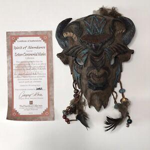 Hamilton Collection Totem Ceremonial Animal Mask Figurine Spirit Abund Buffalo