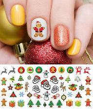Holiday Christmas Nail Art Waterslide Decals #7 - Salon Quality!