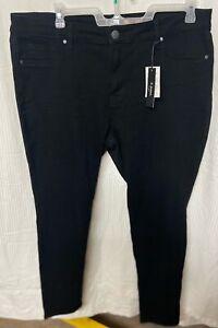 D Jeans Women's Black Skinny Jeans Plus Size 20