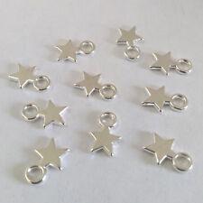 LOT de 30 PENDENTIFS ARGENTE perles breloques ETOILES STAR perles création bijou