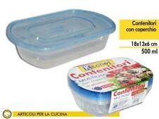Set 4 Contenitori Multiuso Con Coperchio in Plastica 500ml Cucina dfh