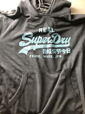 MENS Tiffany Blue And Grey  SUPERDRY HOODIE HOODED TRACK TOP - XXL Fits Slim XL