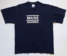 MUSE Showbiz 1999 UK PROMO Vintage T-SHIRT Navy Blue LARGE