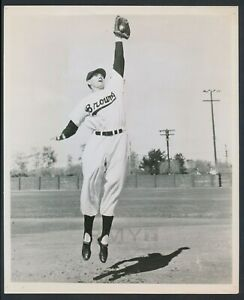 "1952 Marty Marion, ""Future Hall of Fame Shortstop"" Rare Action Baseball Photo"