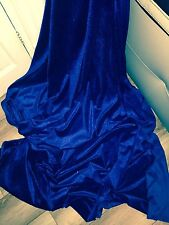 "3 MTR ROYAL BLUE VELVET/VELOUR FABRIC...58"" WIDE"