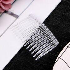 20Pcs Clear Hair Clips Side Combs Pin DIY Barrettes Hair Comb Hair Accessories