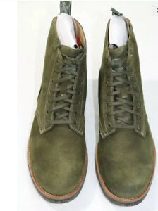 Polo Ralph Lauren Men's Suede Army Boot Hunt Green Size 14 D