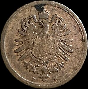1876 Germany 1 Pfennig - Stuttgart Mint