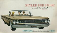 1960 Pontiac Bonneville Convertible Dealer Mailer - Great Condition