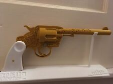 Red Dead Redemption 2 Style Golden Revolver Gun With Stand - 3D Printed Cosplay