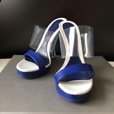 ALEXANDER MCQUEEN Sculpted Wedge Mules Sandals Size 5.5