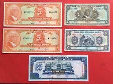 5 GOURDES 1973 HAITI - JEAN FRANCOIS DUVALIER  et autres BILLETS - LOT -