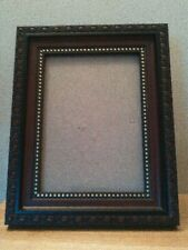 Photo frame for 5x7 photo, wood-look brown/black/gold