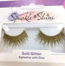 Gold Glitter False Eyelashes Halloween Witch Eyelashes  Party