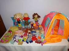 Groovy Girls Huge Big Lot of Dolls Drums Sleeping Bag Tent Clothing Accessories