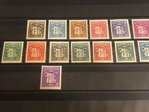 Andorre 1937/43 Série Armoiries N° 47/60 Neufs * Cote 90 €