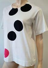 MARNI White Cotton Black & Red Polka Dot Short Sleeve T-Shirt Tee Top IT42 UK10