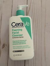 CeraVe Foaming Facial Cleanser 12 oz BRAND NEW Daily Face Wash For Oily Skin