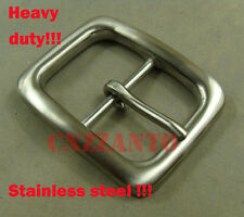 Stainless steel Belt Buckles Classical Tongue Pin Hippie for 40mm wide belt