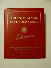 TED WILLIAMS DANBURY MINT 23KT GOLD 2 CARD BOOKLET INCLUDES 1941 SEASON & CAREER