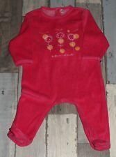 a7647984acf66 Pyjama en velours rouge imprimé fille 6 mois ~ AUB74