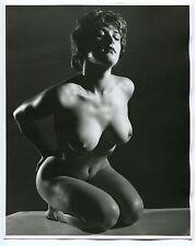 "DIANE CLARE 1950 Nude UK Female Model Burlesque Star 8""x10"" Buxom Breasts"