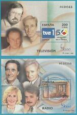 España de 2000 ** post frescos bloque 94+95 MINR. 3597-3598 - radio + TV, Espana!