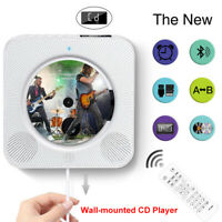 CD Player Wall Mountable Bluetooth USB Audio LED FM Remote Control Hifi Speaker