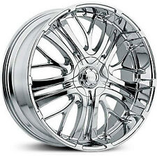 "22"" wheels Chrome  22X9.5  INCUBUS Paranormal 500 5LUG  5x115/120"