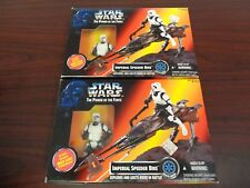 (2) Star Wars The Power of the Force Imperial Speeder Bikes-New In Box!