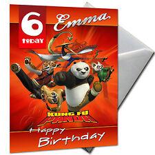 Kung Fu Panda-personnalisé Carte Anniversaire Grand A5 + enveloppe