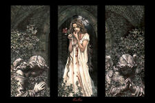 Victoria Frances Triptych Garden Dark Beauty Gothic Romanticism Pre-Raphaelite