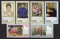 ALEMANIA/RDA EAST GERMANY 1967 MNH SC.909/914 Paintings from Dresden gallery