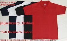 GILDAN Dry Blend Men's Polo Shirt S M L XL XXL 3XL Black Red White Blue Cotton